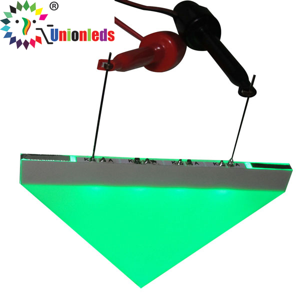 Triangle led backlight sign