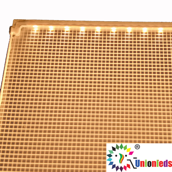 Edge lit customized LED backlight panel
