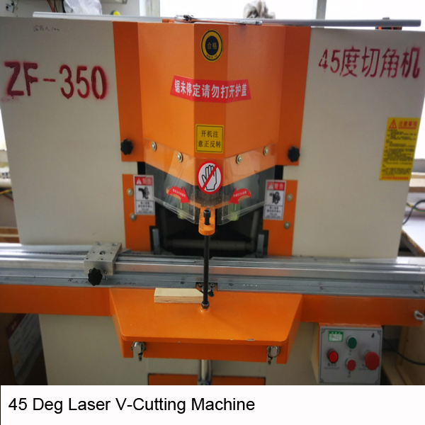 45 deg laser cutting machine